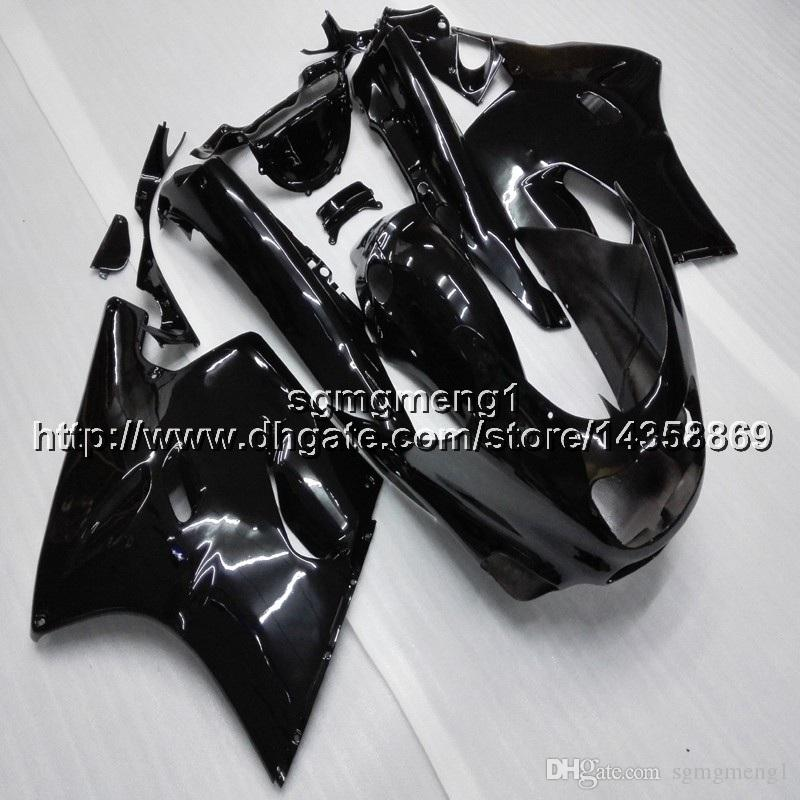 Botls+Gifts black motorcycle cowl For Kawasaki ZX11R ZZR1100 1993 2001 ABS motor Fairing