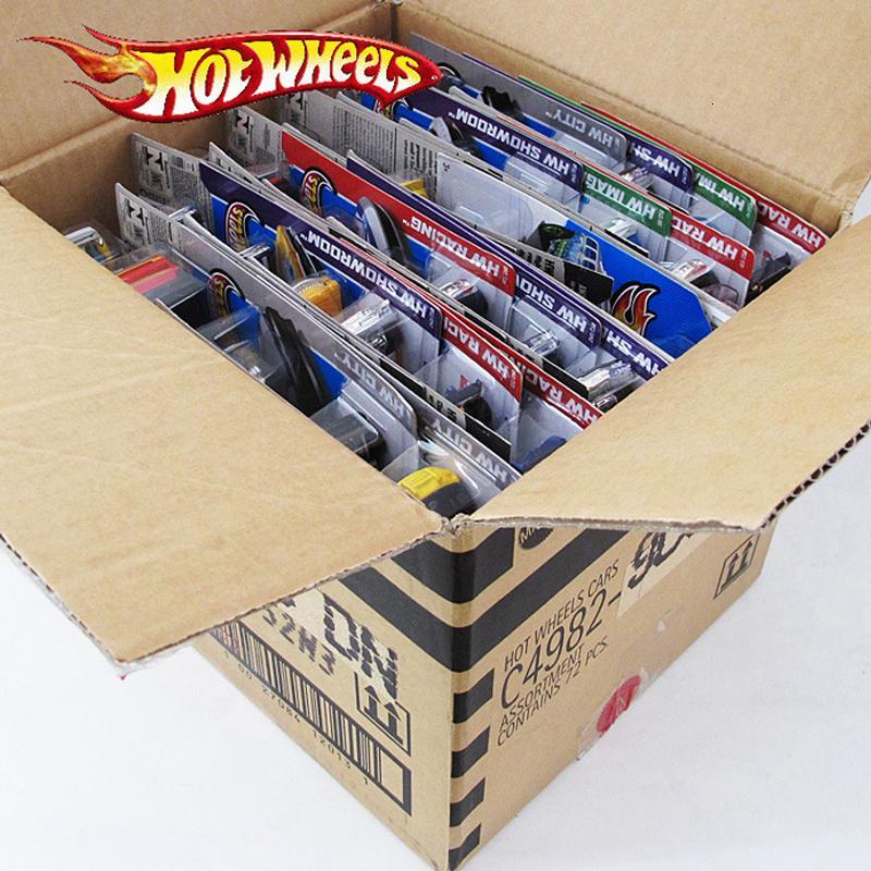 72pcs / caja de Hot Wheels Diecast metal mini modelo de coche Brinquedos Hotwheels juguetes de coches de juguete infantil para niños de uno y cuarenta y tres cumpleaños regalo