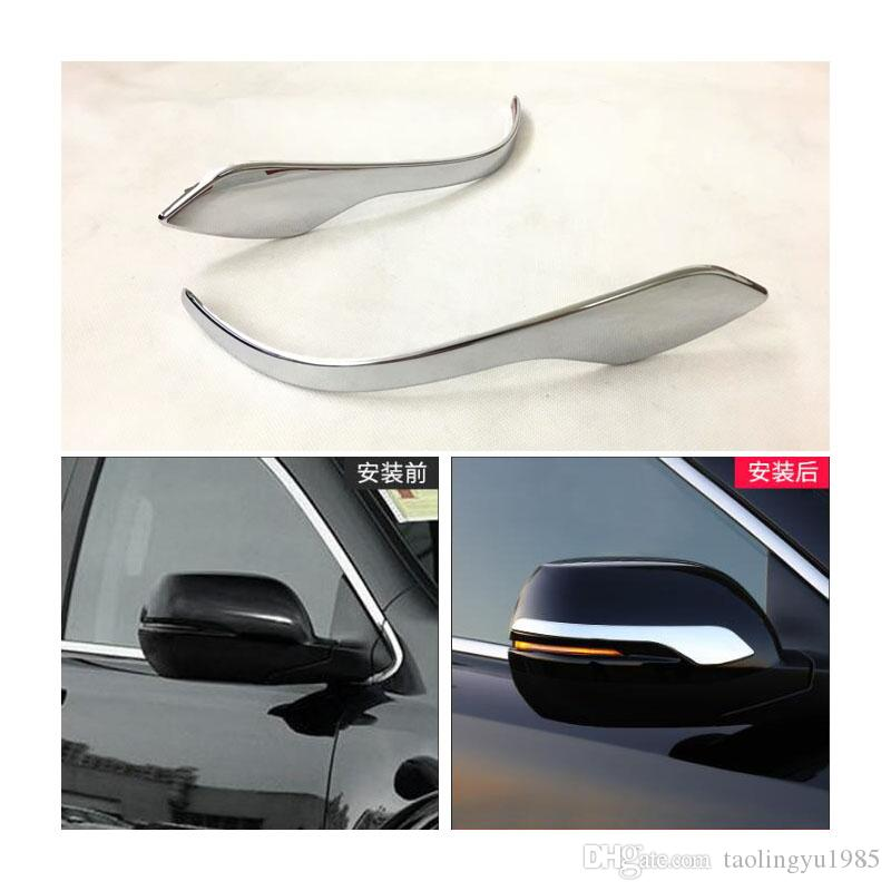 2pcs Chrome Steel Rearview Side Mirror Cover Trim For 2017-2018 Honda CRV CR-V