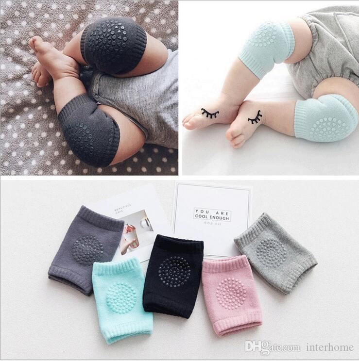 Dual Purpose Safety Protection 2Pcs Baby Crawling Knee Pads Toddler Anti-Slip Elbow Pads