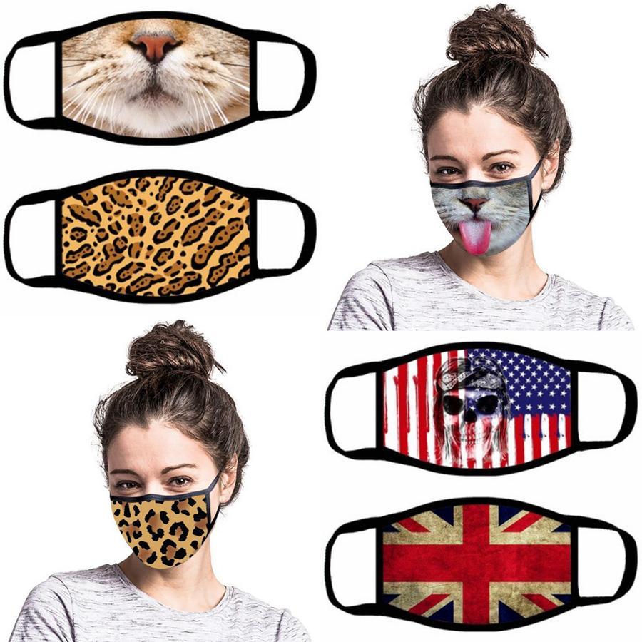 Komik Yüz Maskesi 13 Stiller Karikatür Baskılı Yeniden kullanılabilir Anti Toz Yıkanabilir Açık Ağız Kapak Maskeleri OOA7945