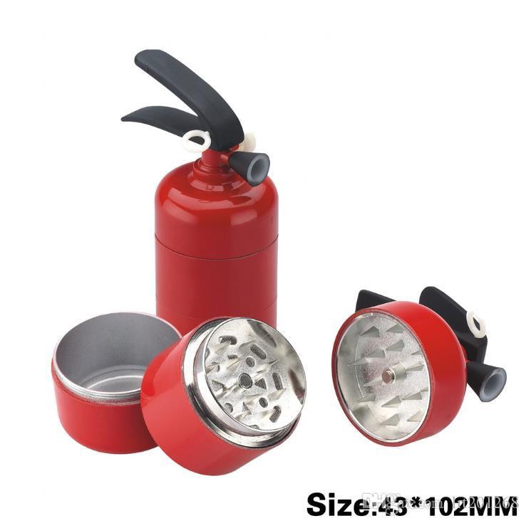 Personalização de Modelagem de Novo Tipo de Três camadas de 43mm de Metal Smoke Grinder Extintor de Incêndio