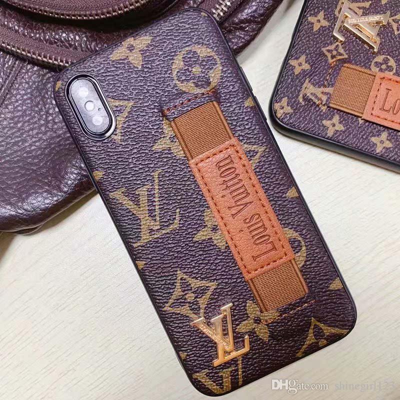 Luxus-Designer-Telefon-Kästen für iPhone 11 Pro Max 6 7 8plus XS XR PU-Leder Classic Soft Rand Mode Handyschutzabdeckung A97