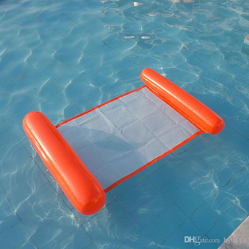 여름 핫 세일 물 해먹 PVC 풍선 쿠션 비치 에어 매트리스 수영장 부동 침대