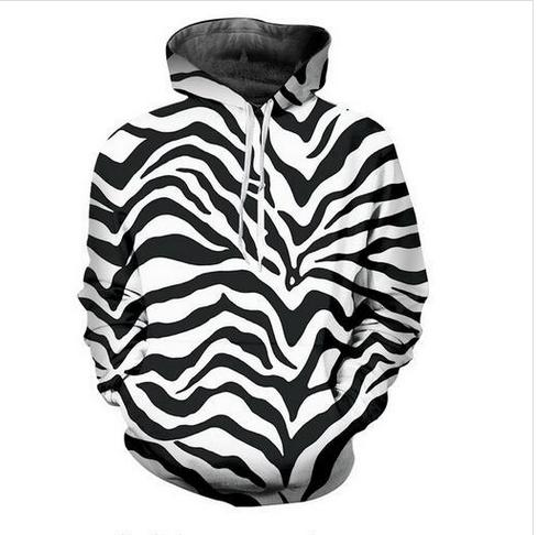 Out Fashion Streetwear 3D HD Imprimir Casual Zebra Stripes Sudaderas con capucha Sudaderas Hombres Mujeres Hoodie Jacket Coat LMS054