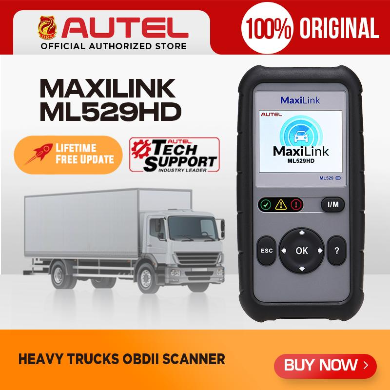 Autel MaxiLink ML529HD Heavy Duty Code Reader Diagnostic Tool Full OBD EOBD Car Scanner Automotive Scan Tool PK AutoLink AL529HD