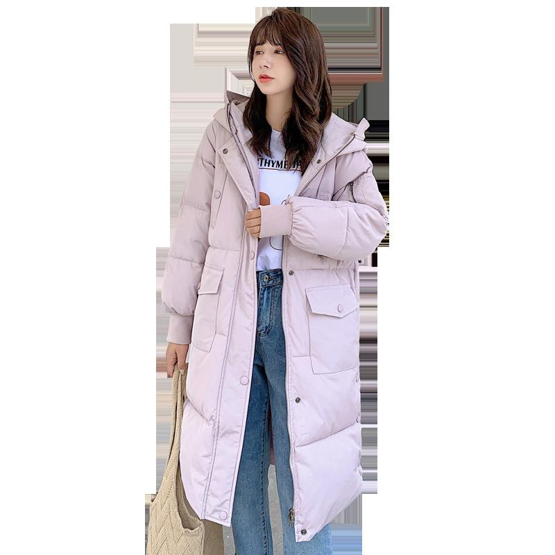 Winter neue unten weibliche Mantel langer Abschnitt Pelzkragen Art und Weise dünnes Temperament Jacke weibliche Feder Cotton