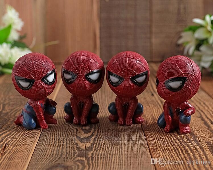 Hámster de resina Modelo de hombre araña Mini recuerdos de modelo de resina encantadora Automóvil Adornos de resina para muebles para el hogar 60 * 85 (MM)