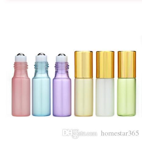 5ml의 에센셜 오일 진주는 향수 아로마 테라피 용 스테인레스 스틸 롤러 볼과 병에 유리 롤 코팅