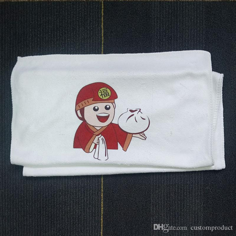 Sublimação em branco toalha de fibra superfina gym exercício de fitness retângulo toalhas de impressão de transferência quente em branco consumíveis cerca de 35 * 75 cm