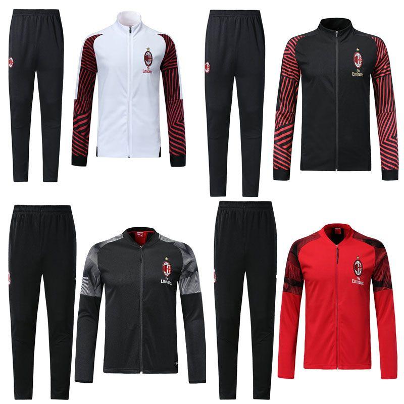 2021 New Adult AC Milan Tracksuit 2019 2020 Psg Soccer Jogging ...