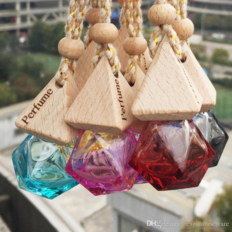 Profumo bottiglia ciondolo 6ML auto indispensabile diffusore dell'olio 9 colori Bag Abbigliamento ornamenti Deodorante Pendente di vetro vuota della bottiglia di profumo