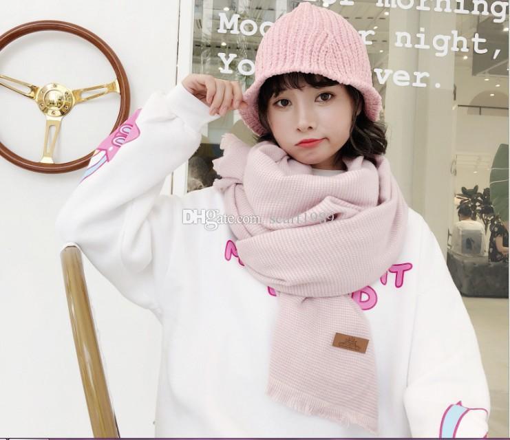 Scarf lady autumn winter versatile student British classic plaid Japanese style small fresh winter scarf