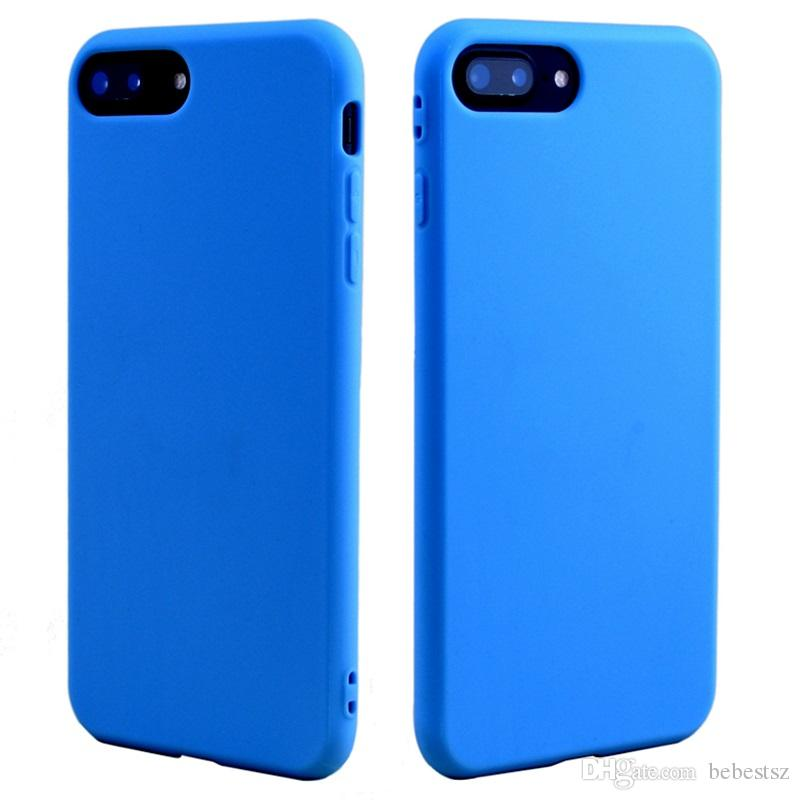 For iphone XS MAX XR X 6S 7 8 plus TPU silicone soft cell phone case slim ultra thin cheap cell phone case cover candy colors new style