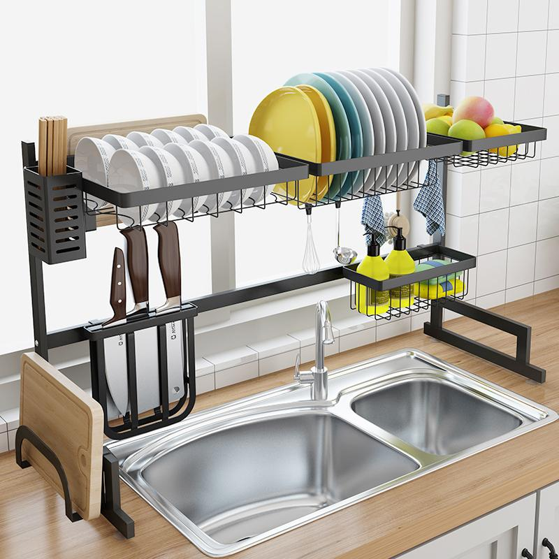 2019 Stainless Steel Sink Drain Rack Kitchen Shelf Two Story Floor Sink  Rack Dish Rack Kitchen Organization From Victoria1985, $100.53 | DHgate.Com