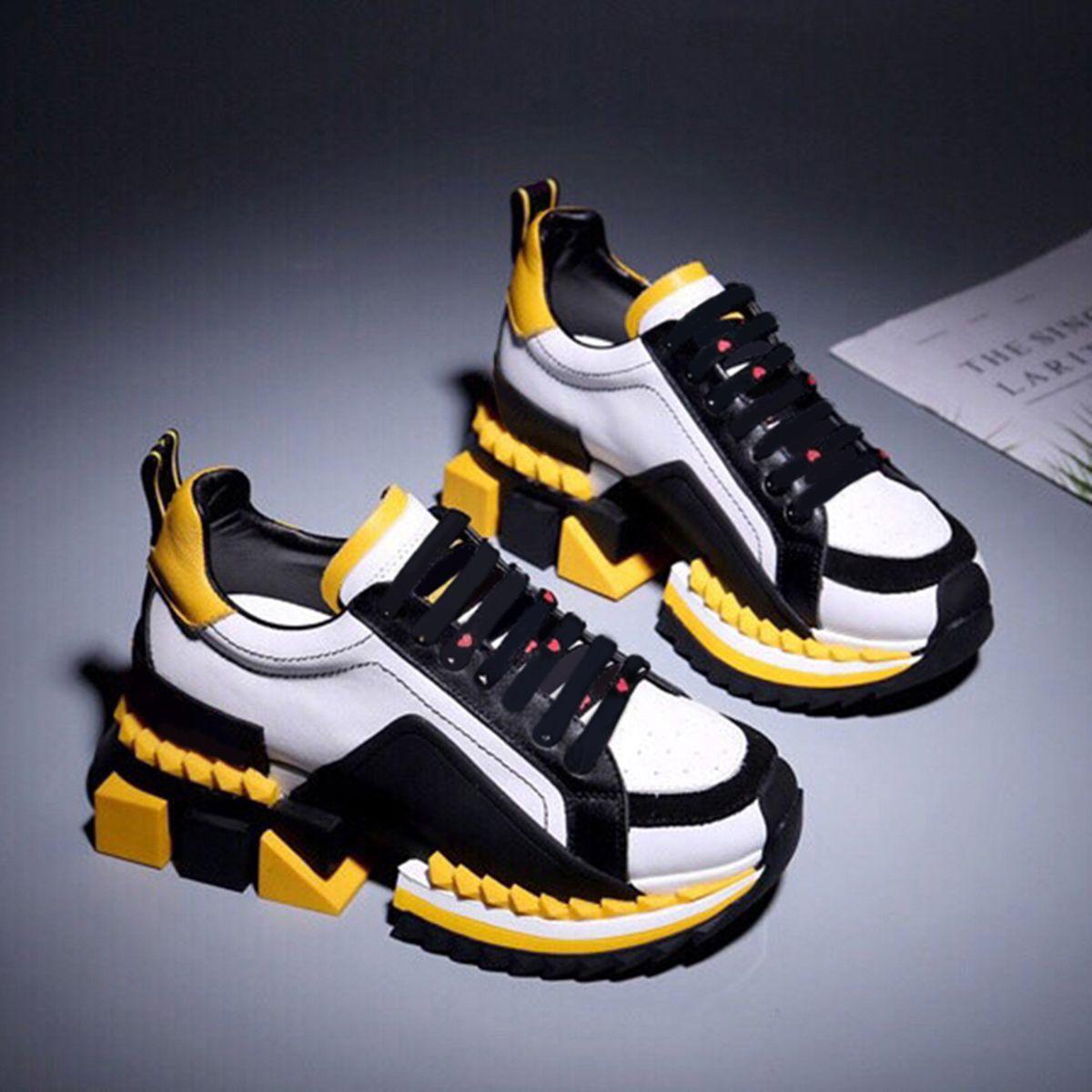 2020 Top mode chaussures de sport Chaussures de sport New Chaussures de sport hommes et femmes fond épais Couleur sauvage Matching Noir Taille US6-10