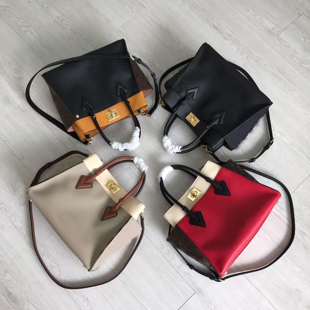 Diseñador de cuero de gran bolso de diseño bolsa de la compra bolsa de 40cm color de la playa se puede llevar con usted, se puede inclinar un hombro
