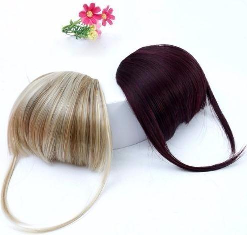 Frange Clip Dans Les Extensions De Cheveux Avant Neat Frange One Piece Striaght Avec Cheveux De Fibre Synthétique À Haute Température