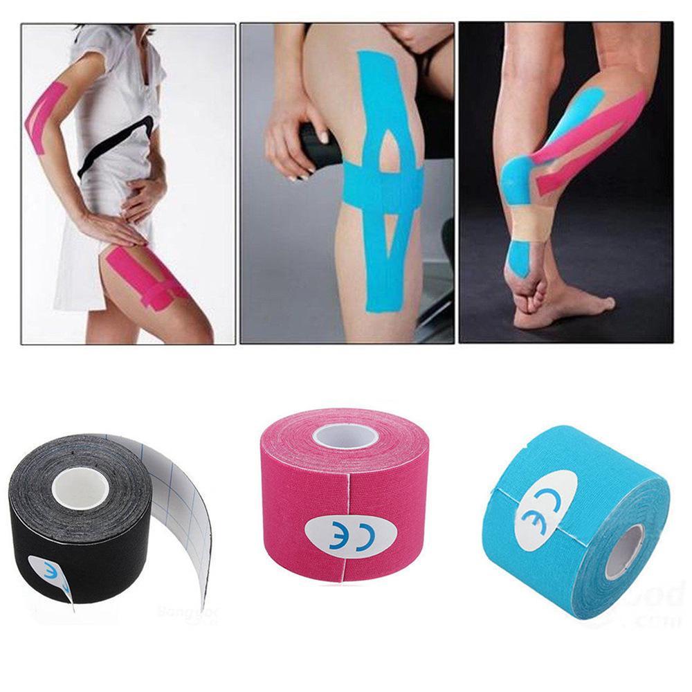 5cm*5m Taping kinesiology tape kinesiologico adhesive sport tape muscle cinta kinesiologica kinesiotape sport elastic bandage