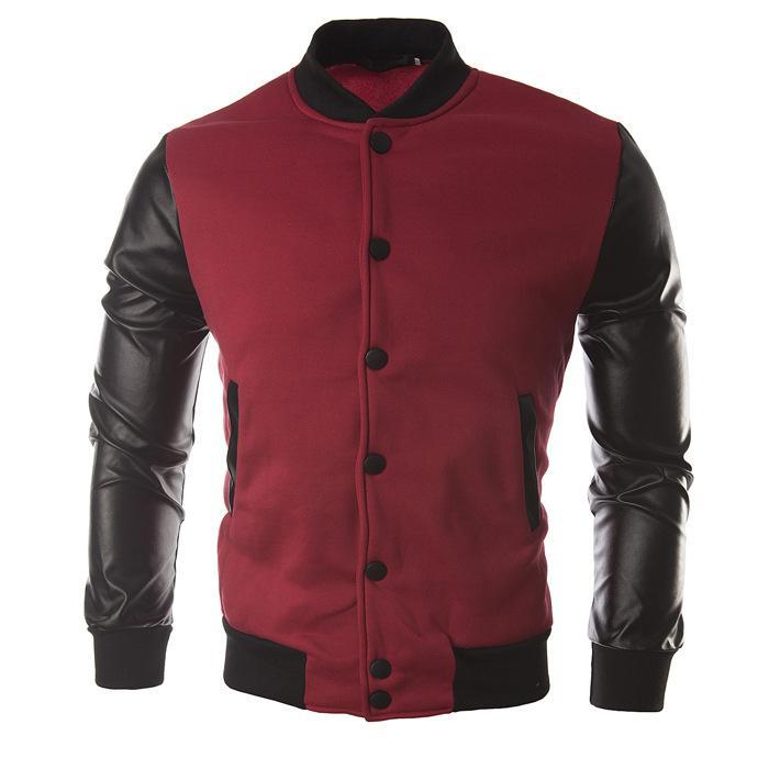 Nouvelle Automne Style De Mode Pachwork Hommes Veste Manteau Casual Sweat À Capuche Manteau Veste Marque Baseball Veste