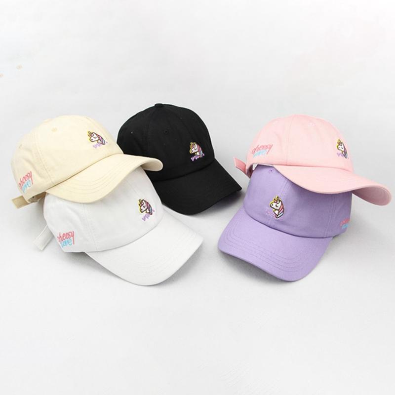 Cotton Cartoon Unicorn Embroidery Baseball Caps For Teen Boy Girl Casual Adjustable Hats Summer Hat Snapbacks Adult Cap Fashion