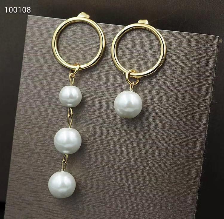 High quality long and short pendant earrings luxury earrings new designer earings fashion jewelry designer earrings jewelry pearl earring