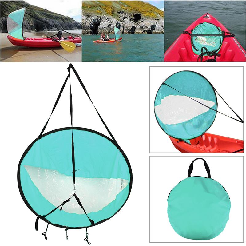 "42 ""/ 108 cm Kayak pieghevole barca Wind Sail a vela Canoa corsa pagaia Barche a remi Wind Clear finestra Accessori Kayak"