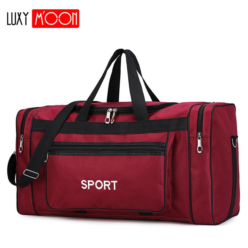 Водонепроницаемый мужчины Спорт дорожная сумка женщины тренажерный зал сумки новый красный йога фитнес Сумка мужская сумка большой емкости нейлон вещевой мешок XA165K T200324