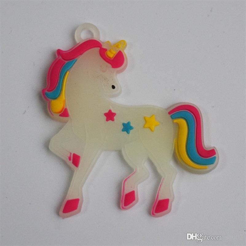Manual del unicornio imán de frigorífico alpaca suave pegamento de bricolaje PVC noctilucentes trompeta Adornos piezas Decoración 0 28ty E1