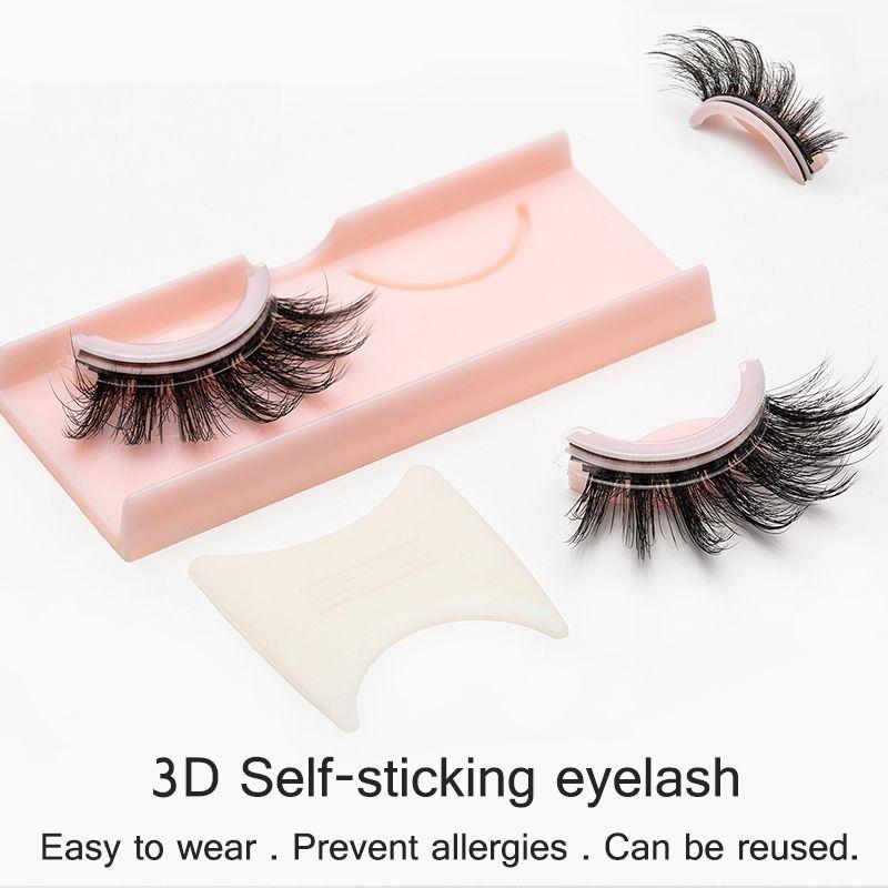 3D Auto-furar cílios prevenir alergias Cílios postiços reutilizável cílios falsos 8 estilo Natural Longo Dropshipping