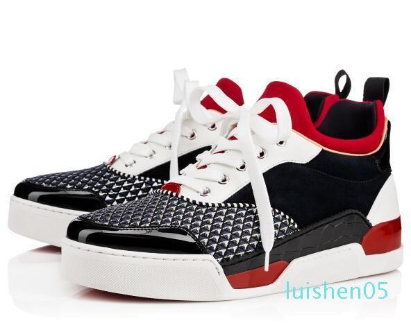 Haute qualité AURELIEN Rouge Fond chaussures pour hommes Sneaker Sport Chaussures Plat AURELIEN SNEAKERS formateurs D'Anniversaire De Mariage Cadeau AL05