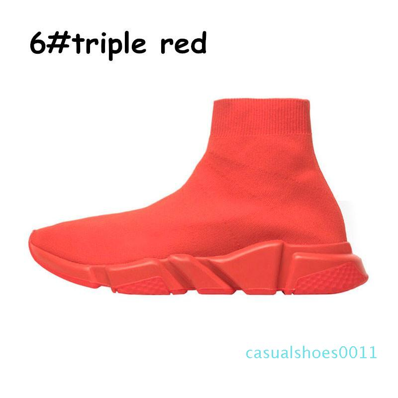 Ucuz Platformu Hız Eğitmen Womens Çorap Siyah Beyaz Kırmızı Erkekler Kadın Üst Kalite Moda Lüks Tasarımcı gri Spor ayakkabılar Günlük Ayakkabılar c11