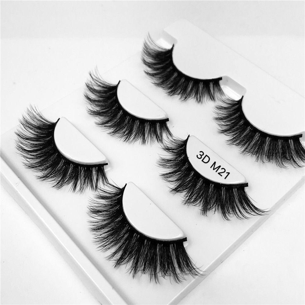 3 pairs 3D mink lash extensions Thick real mink HAIR false eyelashes natural Extension fake Eyelashes free shipping
