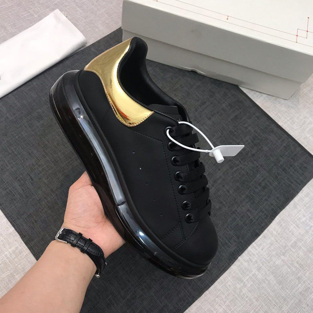 Mode Leder-beiläufige Schuh-Turnschuh-Plattform Gehen Turnschuhe Turnschuhe Kristall Bottom Jogging-Walking-Schuhe für Damen Herren Schuhe