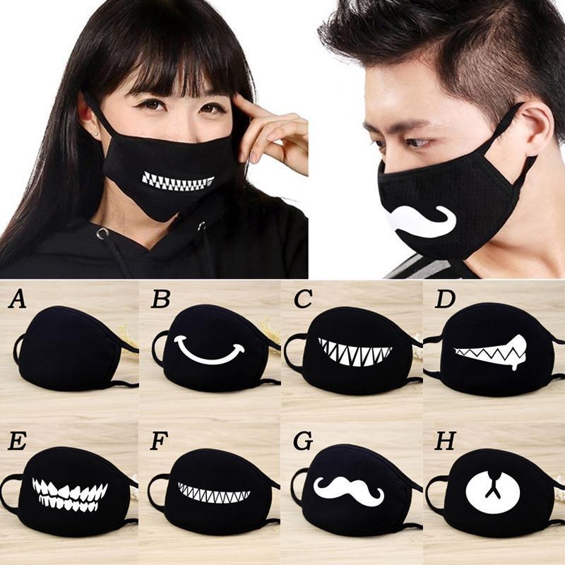 Kadınlar mascarilla Anime Çizgi İfade Diş Kül Chanyeol Yüz Maskesi Karşıtı Kpop Maskeler D30 için Moda yüz maskeleri