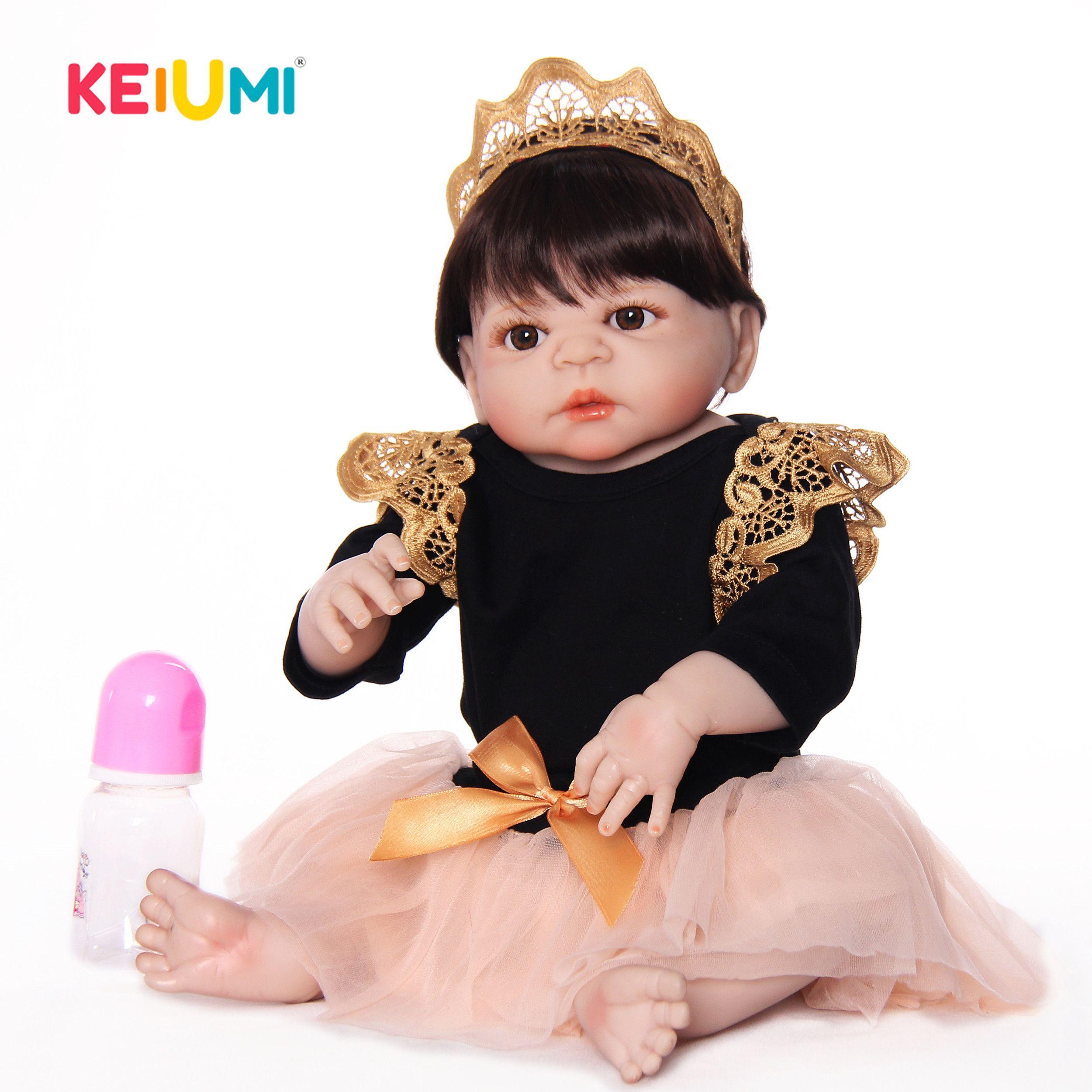 أحدث دمى أطفال متجددة من طراز 23 بوصة سيليكون فينيل مصنوعة يدويا دمية الأميرة المولودة حديثا للأطفال للبيع هدايا عيد الميلاد MX200414