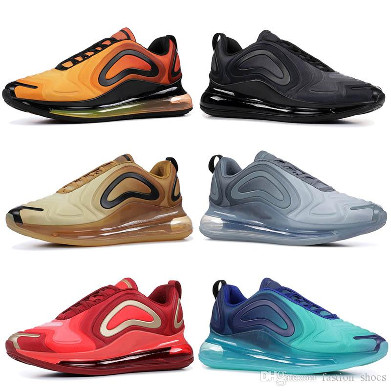 Nike 720 Air Max 720 Hombres Zapatos Para Correr Mujeres Tenis Blanco  Amanecer Puesta De Sol Luces Del Norte Gris De Carbono Mar Bosque Total  Total ...