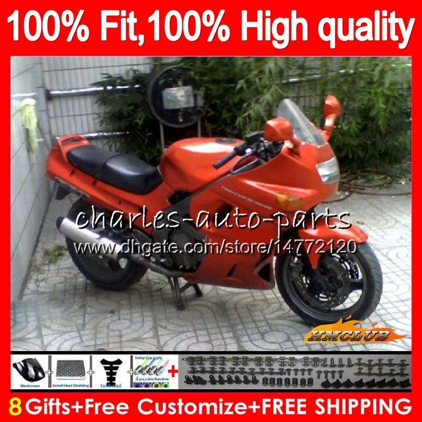 Iniezione per Kawasaki ZZR400 ZZR600 ZZR400 93 94 95 96 97 98 arancio lucido 84HC39 ZZR600 ZZR 600 400 1993 1994 1995 1996 1997 1998 carenatura