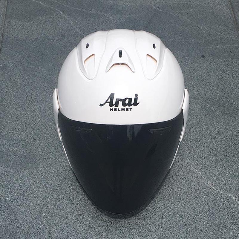 Motosiklet beyaz yarım kask Yarışı Kask açık yüz DOT açık hava spor erkek ve kadınlar Motosiklet onaylı