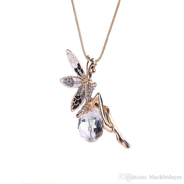 Wholesale Angel Necklace Crystal Ball Pendant Diamond Necklace Fashion Rose Gold Alloy Necklace Iced Out Chains Girl 14k Gold Chains Gold Name Necklace Mens Gold Chains From Blackfridayes 7 24 Dhgate Com