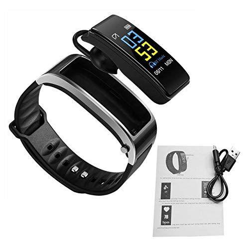 android relógio inteligente com fone de ouvido relógios inteligentes Heart Rate Monitor sono Música Bluetooth Call for Business Sports Headset reloj inteligente