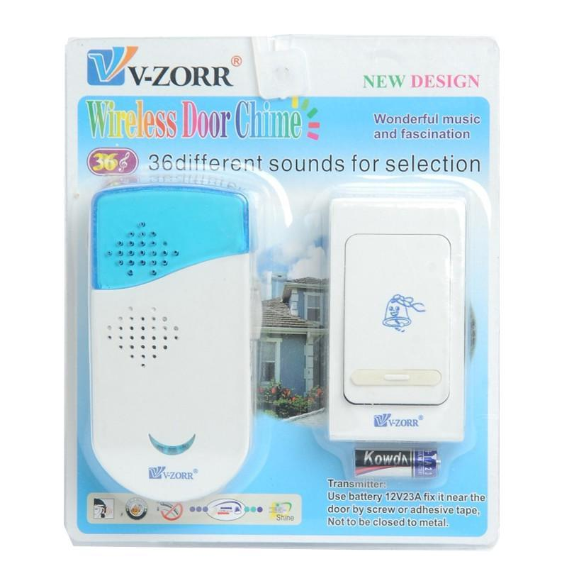 Wireless Chime Doorbell Door Bell Digital Single Receiver 36 Tunes 100m Range Remote Control Home Gate Security