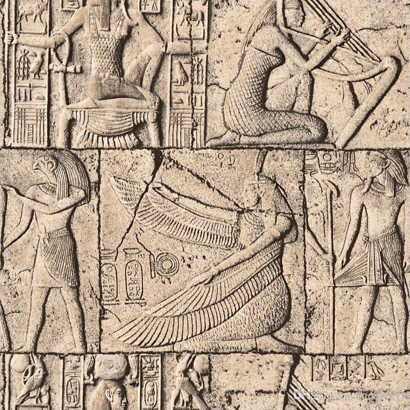 3D النقش خلفية خمر حجر الثقافة المصري جسم الإنسان الديكور خلفيات فندق موضوع لعبة فيديو جدار غرفة المنزلية للجدران