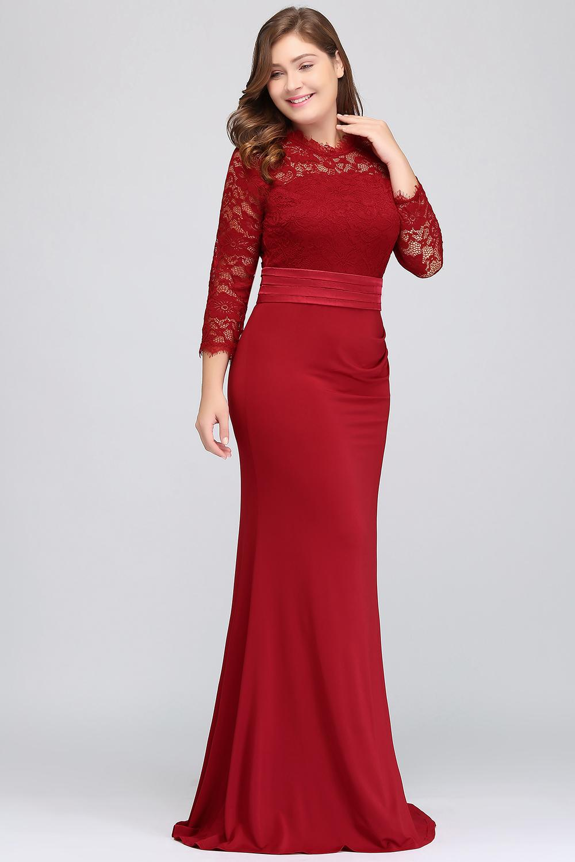 robe de soiree longue Plus Size Evening Dresses 2019 Cheap Red Royal Blue Long Mermaid Evening Party Gown Dress Vestido De Festa