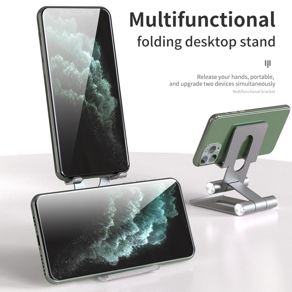 Multifuncional Folding Desktop Phone Holder Metal Alunimum Tablet Stand 15cm High PDA Support Universal for Tablets