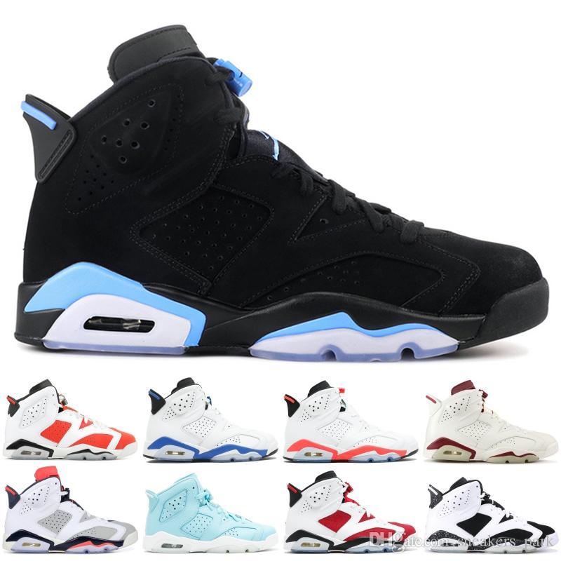 Best 6 OG High Zapatillas de baloncesto para hombre Sport Blue Carmine Maroon Golden Harvest Sport Sneakers 6s CNY Designer Shoes 40-47