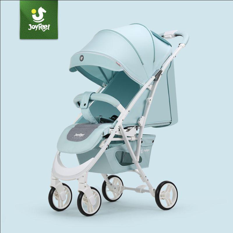 Joyfeel Puede sentarse cochecito reclinable ultraligero plegable cochecito portátil Empujar a mano los niños paraguas Rusia envío gratis