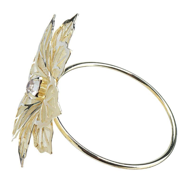 Recém-12 Pcs Floral metal anéis de guardanapo Titular Jantar Toalha anel de casamento para tabela do partido