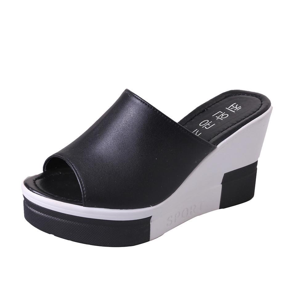 Yeni Yaz kadın Sandalet Burnu Açık Ayakkabı Kadın Yüksek topuklu Platfromlar Kadınlar Için Rahat Takozlar Yüksek Topuklu ayakkabı