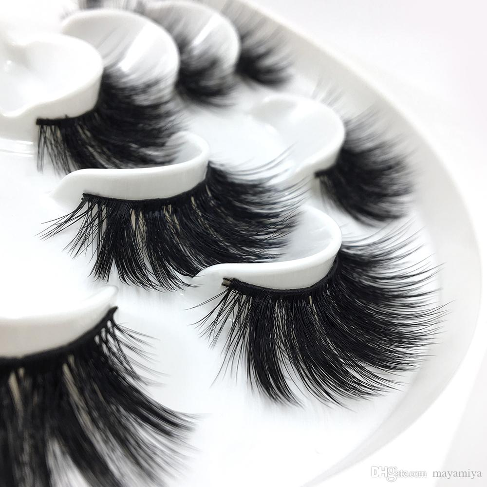 New Factory direct sale 7 pairs 3D mink eyelashes thick false eyelashes 3D false eyelashes M01